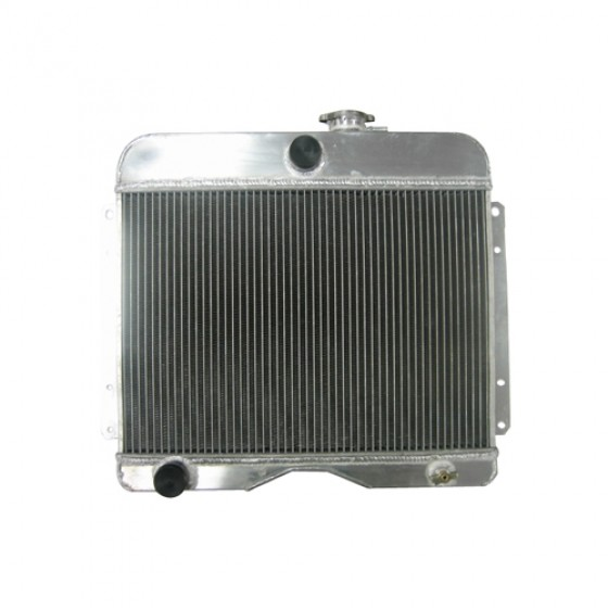 Aluminum Radiator Assembly - USA Made, 46-64 CJ-3A, 3B, Truck, Station Wagon, Jeepster