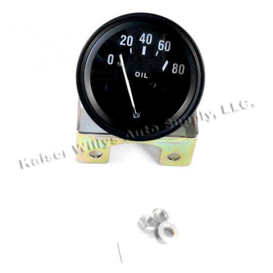 Instrument Panel Oil Gauge, 46-64 Willys CJ-2A, 3A, 3B