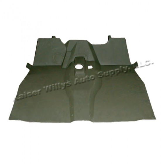 Complete Front Floor Pan with Welded Braces, 46-64 CJ-2A, 3A, 3B