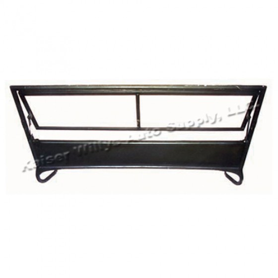 """Replacement Steel Windshield Frame (Inner & Outer)  Fits  46-49 CJ-2A (Less """"Willys"""" Logo)"""