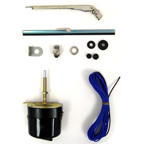 Windshield Wiper Motor Conversion Kit in 6 volt, 41-59 MB, GPW, CJ-2A, 3A, 3B, 5