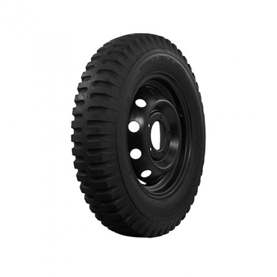 "STA Non Directional Tire 7.00 x 16"" 6 ply Square Shoulder Fits 41-71 Jeep & Willys"