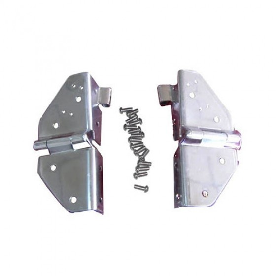 Windshield Hinges in Stainless, 76-86 CJ