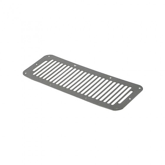 Cowl Vent Cover in Stainless, 76-86 CJ