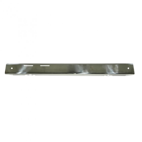 Front Bumper Overlay in Stainless, 76-86 CJ