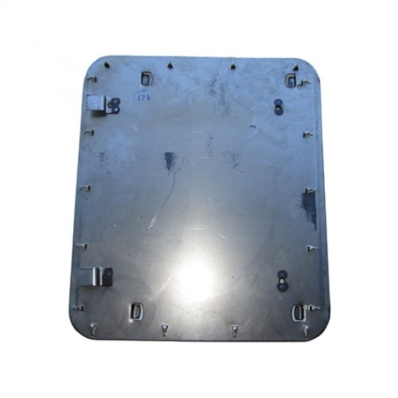 Passenger Side Seat Frame Bottom Pan (with Upholstery Hooks) Fits 46-64 CJ-2A, 3A, 3B