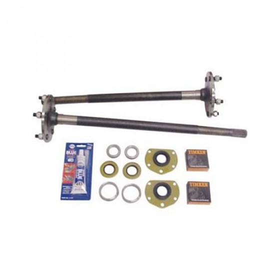 Quadratrac 1 Piece Axle Kit, 76-79 CJ-7 with Rear AMC20