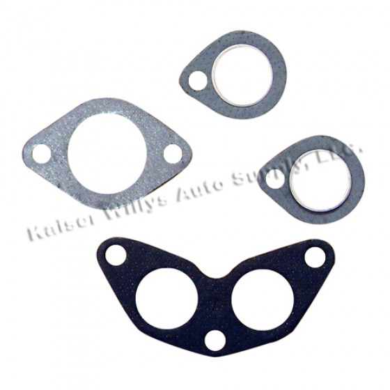 Manifold Gasket Set, 50-71 Jeep & Willys with 4-134 F engine