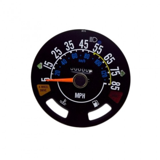 Speedometer Head with Odometer, 5-85 mph, 80-86 CJ