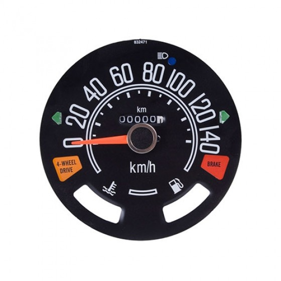 Speedometer Head with Odometer in Kilometer, 80-86 CJ