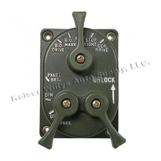 Headlight Control Switch, 50-66 Willys M38, M38A1