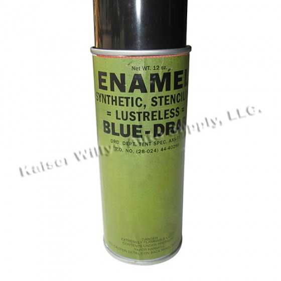 Lusterless Flat Blue Drab Paint (Rattle Can), 41-71 Jeep & Willys