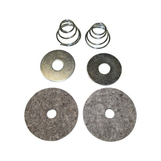 Clutch & Brake Pedal Felt Draft Seal Kit, 41-66 MB, GPW, CJ-2A, 3A, 3B, 5, M38, M38A1