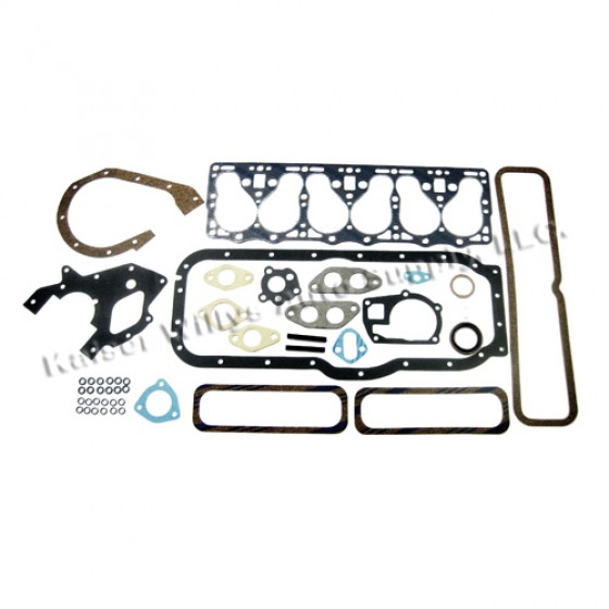 Complete Engine Overhaul Gasket Set  Fits  50-55 Station Wagon, Jeepster with 6-161 L engine