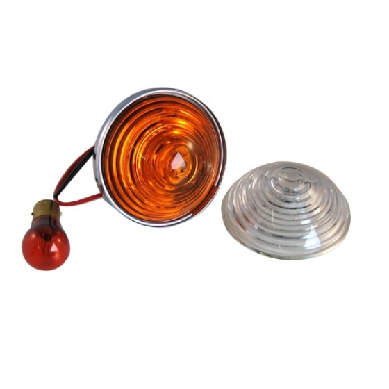 Park & Turn Signal Lamp Assembly Clear, 53-71 Willys CJ-3B, 5