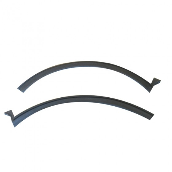 Rear Quarter Window & Door Glass Weatherseal, 67-72 Jeepster