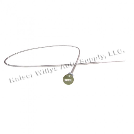 Engraved Throttle Cable Assembly, Olive Drab, 41-66 MB, GPW, M38, M38A1