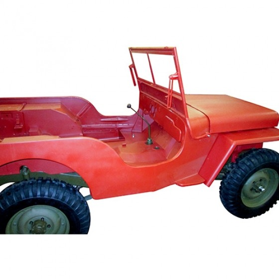 Body Tub Kit (Steel Tub, Fenders, Hood, & Windshield Frame