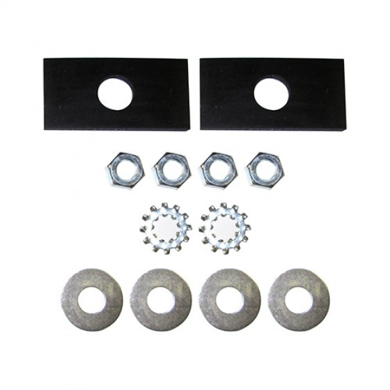 Radiator Mounting Pad Kit, 41-52 MB, GPW, CJ-2A, 3A M38