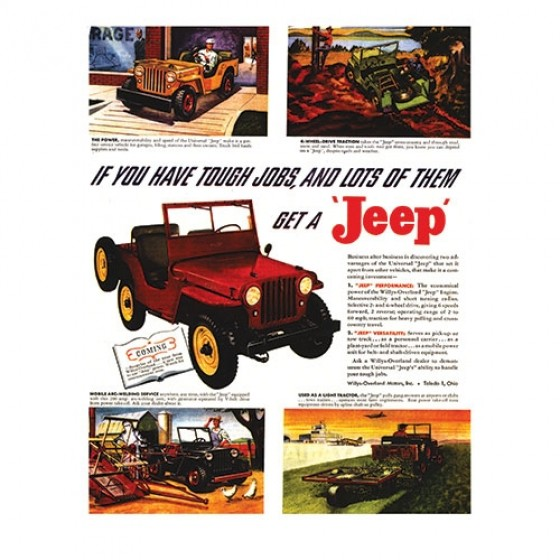 Vintage Willys Ad Tough Jobs