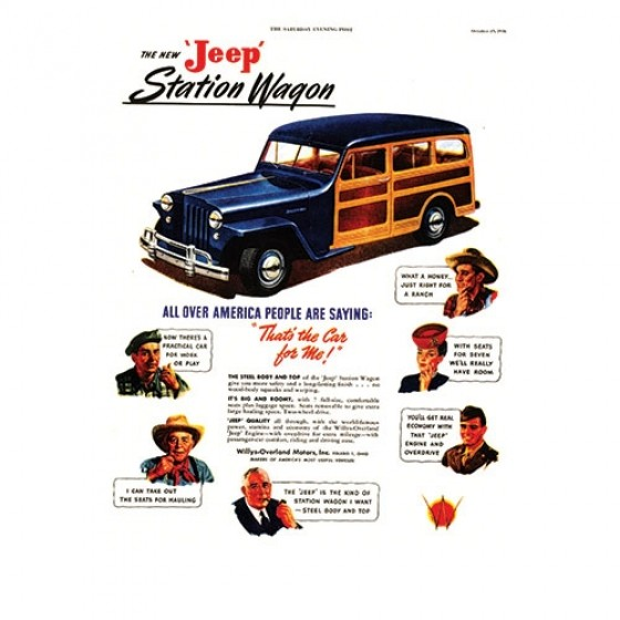 Vintage Willys Ad All Over America