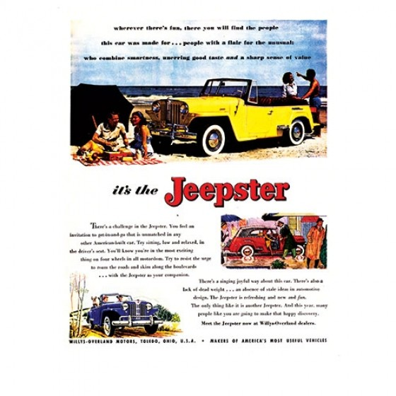 Vintage Willys Ad Meet the Jeepster