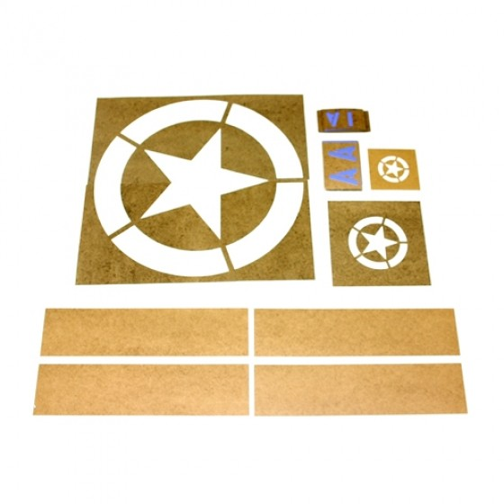Paint Stencil Kit Fits : 41-71 Jeep & Willys