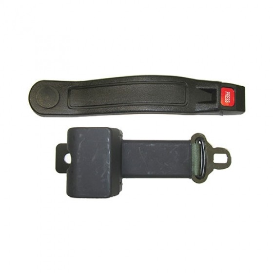Retractable Seat Belt with Hardware, Olive Drab, 41-75 Jeep