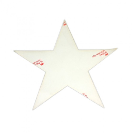 Decal 20 inch High White Hood Star, 41-66 Willys MB, GPW, M38, M38A1