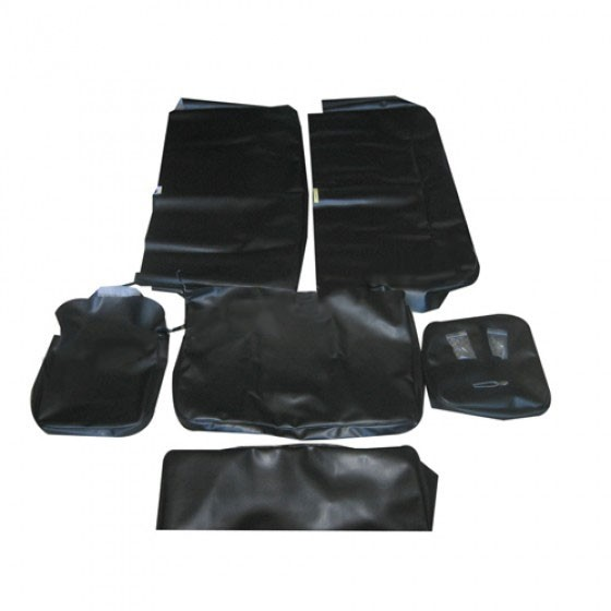Quilted Vinyl Seat Cover Set w/Caps for All 4 Seats  Fits  48-64 Station Wagon