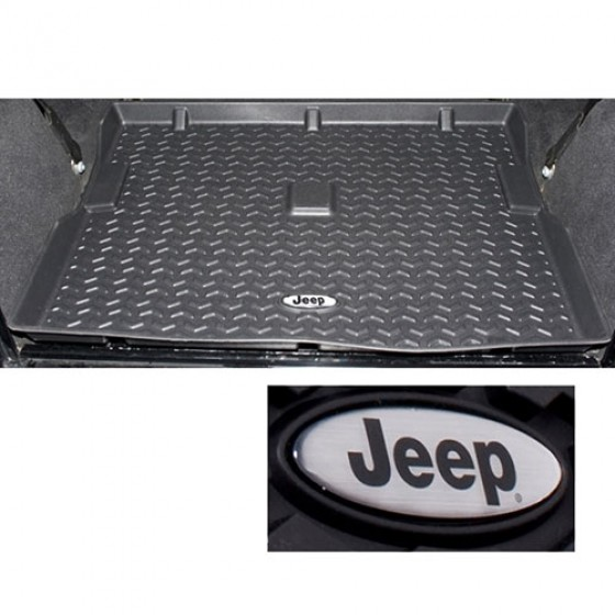Cargo Liner with Jeep Logo in Black, 76-86 CJ-7,8