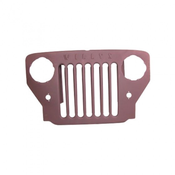 Steel Radiator Grille, 53-65 CJ-3B