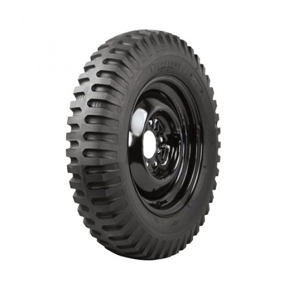 """Firestone Non Directional Tire 7.00 x 16"""" Square Shoulder  Fits  41-71 Jeep & Willys"""