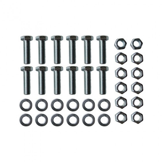 Rear Brake Backing Plate to Axle Flange Hardware Kit, 46-64 Station Wagon with 11 Inch brakes