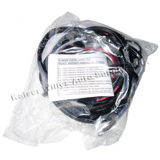 complete wiring harness made in the usa fits mb gpw more views complete wiring harness