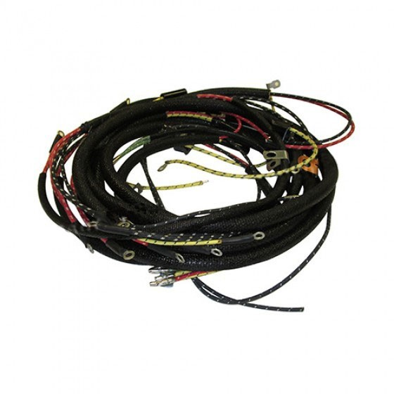 complete wiring harness made in the usa fits 46 53 cj 2a, 3a (with harley turn signal wiring harness more views complete wiring harness