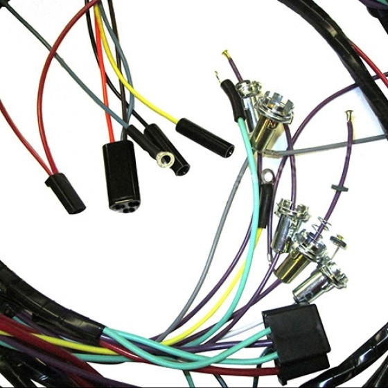 complete wiring harness made in the usa fits 66 71 commando with v6 225 engine 2004 Jeep Wrangler Wiring Harness