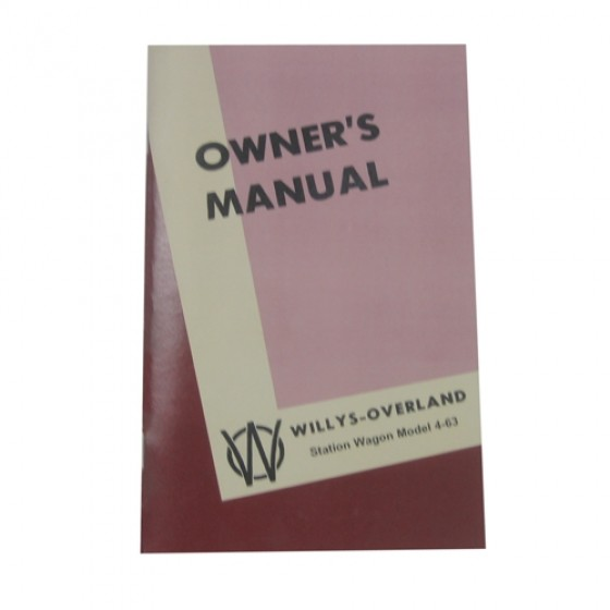 Owners Manual Fits 46-49 Station Wagon