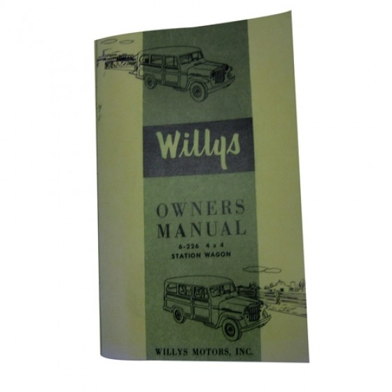 Owners Manual Fits 56-64 Station Wagon