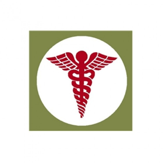 """New Medical Caduceus Decal Fits 41-71 Jeep & Willys (4"""")"""
