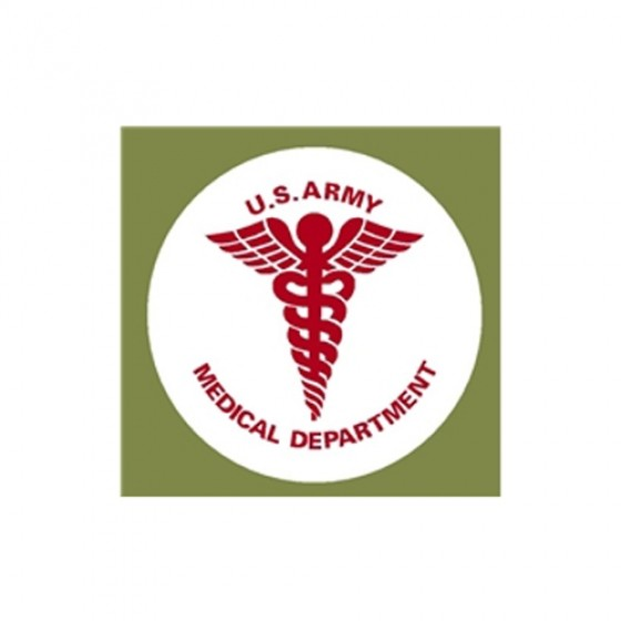 "New Medical Caduceus Decal Fits 41-71 Jeep & Willys (6"")"