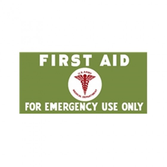 New First Aid Kit Lettering Decal Fits 41-71 Jeep & Willys