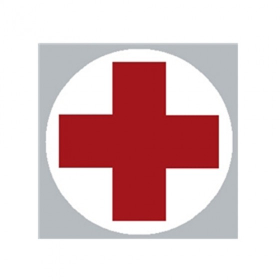 New Helmet Medical Cross Decal Fits 41-71 Jeep & Willys