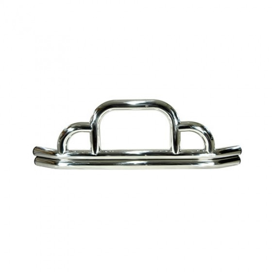 Front Defender Bumper in Stainless, 76-86 CJ