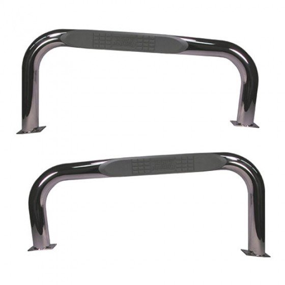 Nerf Bars in Stainless Steel, 76-83 CJ