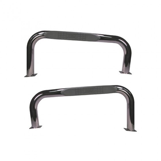 Nerf Bars in Stainless Steel, 76-86 CJ