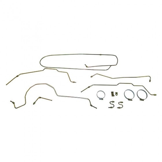 Formed Steel Brake Line Kit, 55-64 CJ-5
