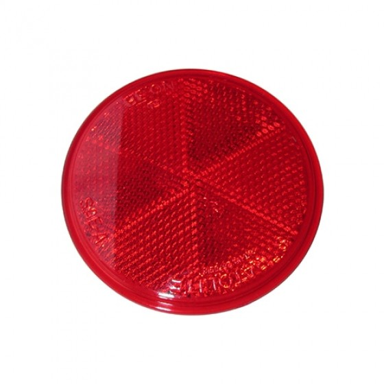 Red Side Marker Lens reflector, 41-71 Jeep & Willys