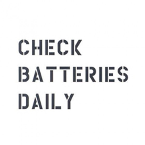 "Standard 1"" Check Batteries Dailey Paint Mask Stencil Fits 41-71 Jeep & Willys (3 Line)"