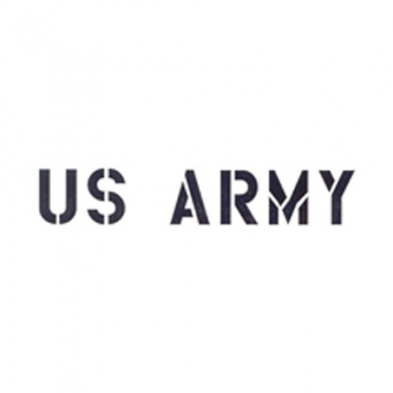 "Standard 1"" US Army Paint Mask Stencil Fits 41-71 Jeep & Willys"
